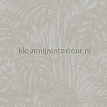 Chique bladerpatroon met parelstructuur tapet Eijffinger Reflect 378015