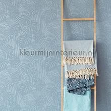 Chique bladerpatroon met parelstructuur behang Eijffinger Exotisch