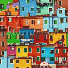 Kleurrijke huisjes tapeten Dutch Wallcoverings Replik J78930