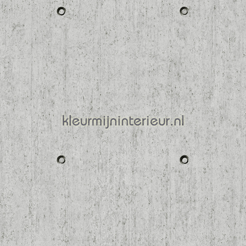 Beton met conusgaten behang J86609 aanbieding behang Dutch Wallcoverings