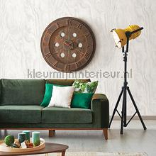 Grote houtnerf structuur behang Dutch Wallcoverings hout