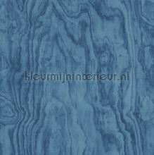 Grote houtnerf structuur blauw papier peint Dutch Wallcoverings Restored 2540-24041