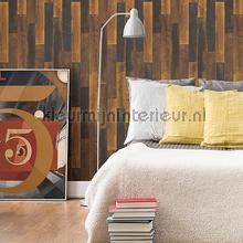 Warm gestrookt hout papier peint Dutch Wallcoverings Restored 2540-24047