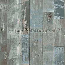 Oud geschilderd hout papier peint Dutch Wallcoverings Restored 2540-24053