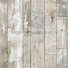 Oud geschilderd hout papier peint Dutch Wallcoverings Restored 2540-24054