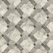 Diagonaal marmer patroon papier peint Dutch Wallcoverings Restored 2540-24055
