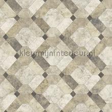 Diagonaal marmer patroon papier peint Dutch Wallcoverings Restored 2540-24056
