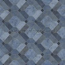 Diagonaal marmer patroon papier peint Dutch Wallcoverings Restored 2540-24057