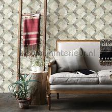 Diagonaal marmer patroon papier peint Dutch Wallcoverings Restored 2540-24058