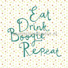 Eat Drink Boogie Repeat fottobehaang Eijffinger Rice 2 383617
