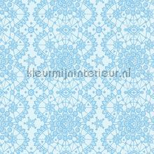 Kant relief blauw behang Eijffinger Rice 359012