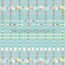 Bloemenruit mint groen behang Eijffinger Rice 359030