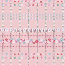 Bloemenruit roze behang Eijffinger Rice 359034