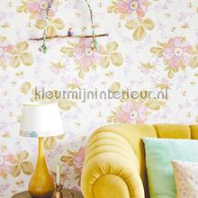 Pastel bloem behang Eijffinger Rice 359040