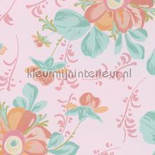 Pastel bloem roze behang Eijffinger Rice 359045