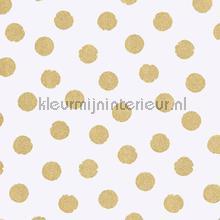 Gouden glitter stippen behang Eijffinger Rice 359060