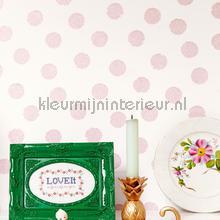 Roze glitter stippen behang Eijffinger Rice 359061