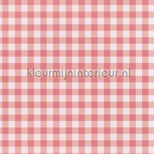 Pastel ruit licht rood behang Eijffinger Rice 359082