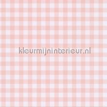 Pastel ruit zacht roze behang Eijffinger Rice 359083