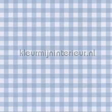 Pastel ruit zacht blauw behang Eijffinger Rice 359085