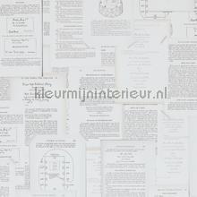 Verzameling paginas grijstinten wallcovering BN Wallcoverings Vintage- Old wallpaper