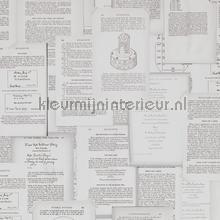 Verzameling paginas sepia tinten tapet BN Wallcoverings Vintage Gamle
