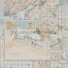 Avontuurlijke atlaskaart tapeten BN Wallcoverings Trendy