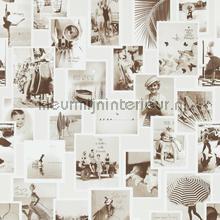 Nostalgische fotocollage bruintinten tapeten BN Wallcoverings Trendy