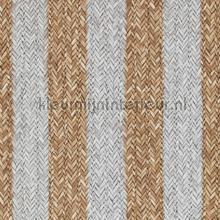 Geweven rattan bruin wit tapet BN Wallcoverings Riviera Maison 18310