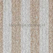 Geweven rattan lichtbruin wit tapet BN Wallcoverings Riviera Maison 18311