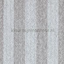 Geweven rattan grijs wit tapet BN Wallcoverings Riviera Maison 18312