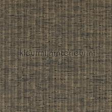 Fijn geweven rattan donkerder bruin tapet BN Wallcoverings Riviera Maison 18332