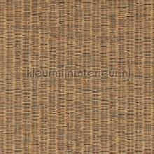 Fijn geweven rattan warm bruin tapet BN Wallcoverings Riviera Maison 18334