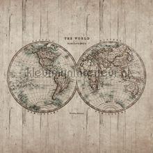 Antieke wereldkaart fotowand fotobehang BN Wallcoverings Riviera Maison 30602
