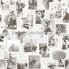 Nostalgische fotocollage fotowand fotobehang BN Wallcoverings Riviera Maison 30604