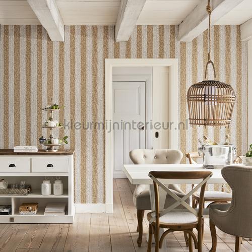 geweven rattan bruin wit 18310 behang riviera maison bn wallcoverings. Black Bedroom Furniture Sets. Home Design Ideas