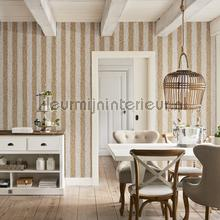 Geweven rattan bruin wit behang BN Wallcoverings Landelijk Cottage