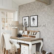Classic touch blauw tapet BN Wallcoverings nostalgisk