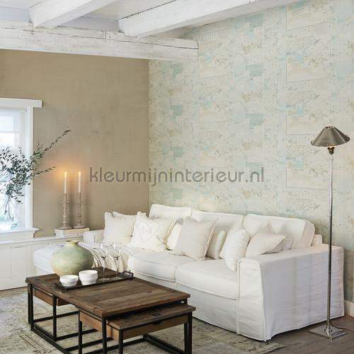 avontuurlijke atlaskaart turquoise wallcovering 18270 wallpaper room set photos bn wallcoverings
