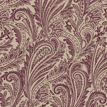 Paisley met flock effect tapet Dutch First Class veloute