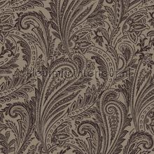 Paisley met flock effect tapet Dutch First Class Vintage Gamle