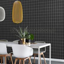 Kleine tegeltjes zwart wit tapet Esta home Scandi Cool 152-139032