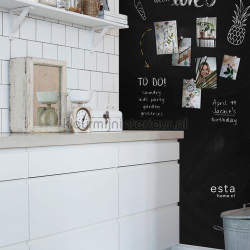Magnetisch schoolbord behang 152-155001 Keuken Esta home