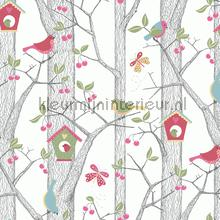 Cherry Friends wallcovering Boras girls