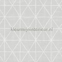 Krijt ruit licht zilver tapet AS Creation Scandinavian Style 341378