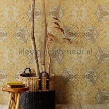 Bohemian bloempatroon fotobehang Eijffinger Exotisch
