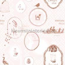 Nostalgica licht roze behang Onszelf Baby Peuter