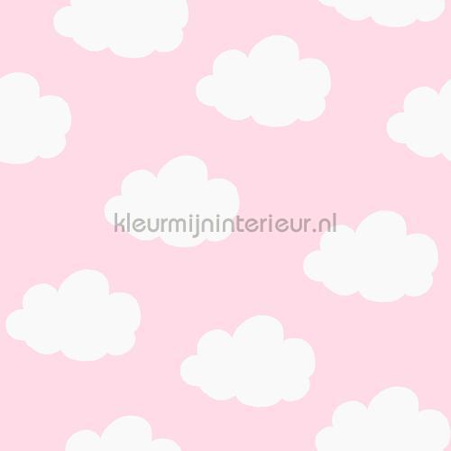 Smile wolkjes roze behang OZ 3277 aanbieding behang Onszelf