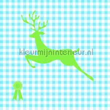 My green deer behang Onszelf Baby Peuter