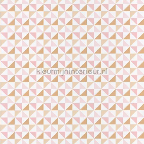Driehoek ruitjes behang spa100114258 Interieurvoorbeelden behang Caselio